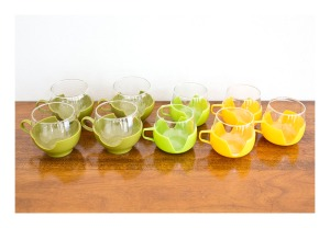 Pyrex punch glasses