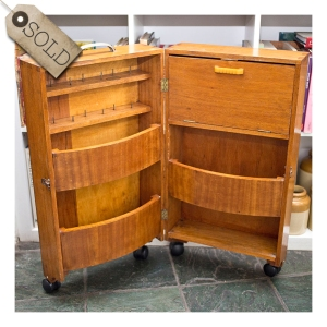 1940s sewing caddy