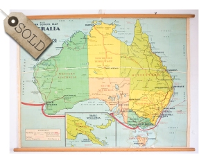 Old School map, Australia 1940s