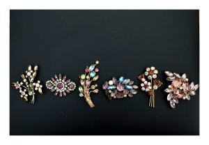 50s costume brooches