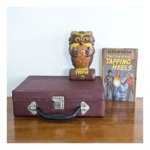 Beepa the Owl moneybox & 70s cassette case
