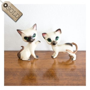 Kitschy cat salt & pepper shakers