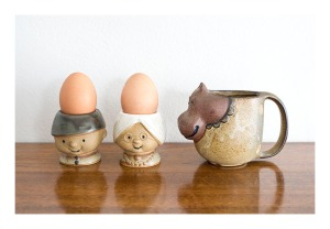 Gempo egg cups and spotted hippo mug
