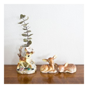 Bambi posy vase & salt and pepper shakers