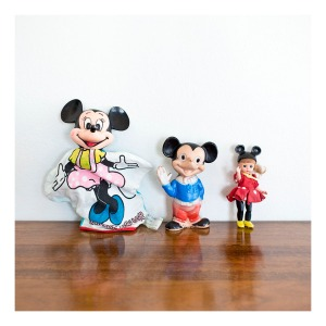 Minnie and Mickey Mouse, c50s-60s