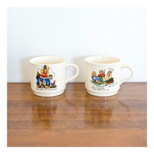 Johnson Bros nursery cups, 1960s