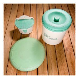 Green & cream bakelite kitchenalia made in Australia, 1940s