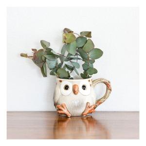 Fitz & Floyd spotted owl mug [1978]