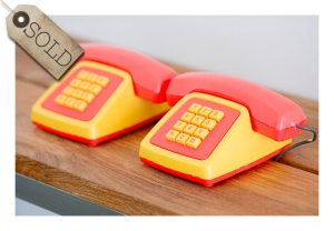 Telefon children's intercom toy telphones, 1970s