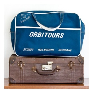 Orbitours travel bag, 1960s