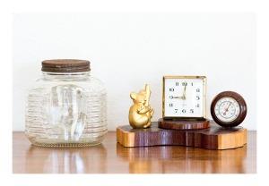 40s souvenir, clock & barometer