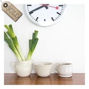 bakewells jug & bowl, fowler ware jug
