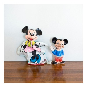 Minnie Mouse puppet & Mickey Mouse squeaky toy