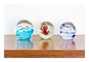 Studio glass paperweights, 1960s