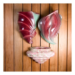 Pates wall vases, 40s