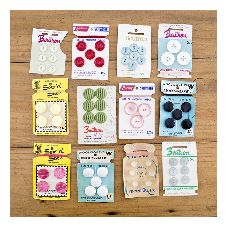 Australian button cards, 50s 60s
